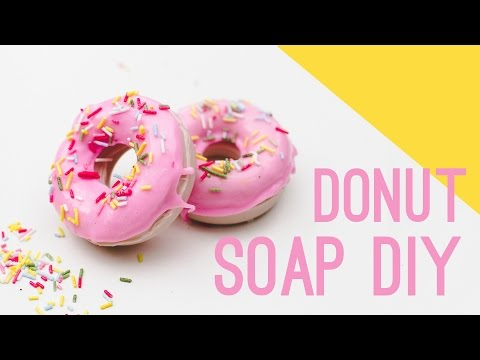 How To Make Donut Soap Favours with sprinkles!!