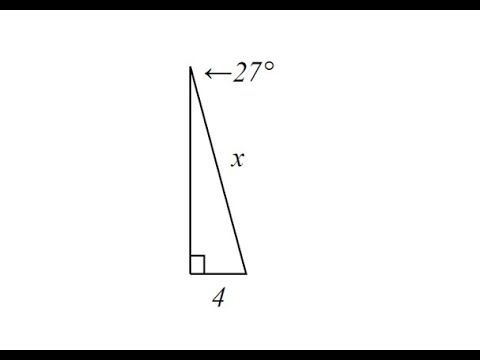 Use Sine to Determine The Length of a Hypotenuse of a Right Triangle