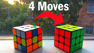 How To Solve A Rubik S Cube Only Using 4 Moves