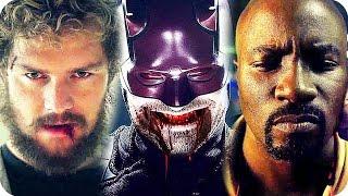 MARVEL NETFLIX SERIES All Comic Con Trailers (2016) The Defenders, Daredevil, Luke Cage, Iron Fist