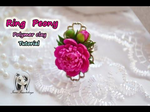 Ring Peony ✿ Polymer clay Tutorial