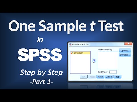 t Test in SPSS - P-Value; Null Hypothesis; Written Resutls; APA Format (Part 1 of 2)