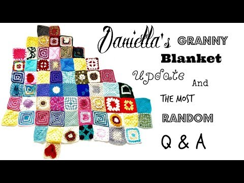26 totally random questions, and Daniella's Blanket update