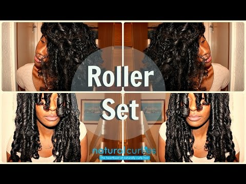 How To| Roller Set On LONG Natural Hair