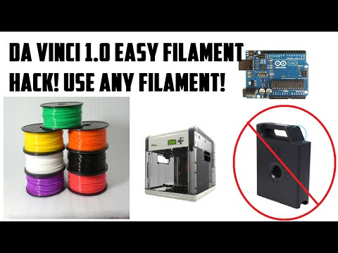 DA VINCI 1 0 FILAMENT RESET - EASY - WORKS - USE 3RD PARTY