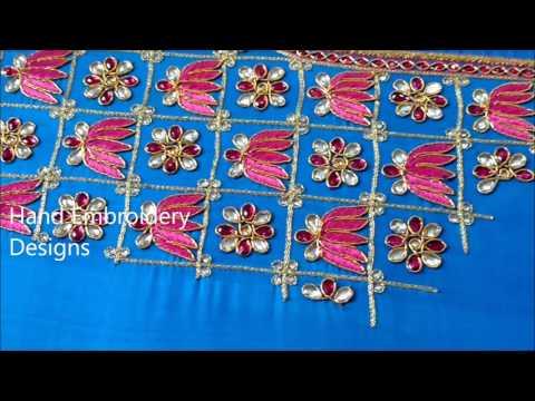 zardosi work bridal lehenga online | zardosi work blouse online shopping, hand embroidery designs