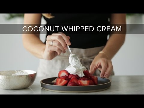 HOW TO MAKE COCONUT WHIPPED CREAM | dairy-free, vegan whipped cream