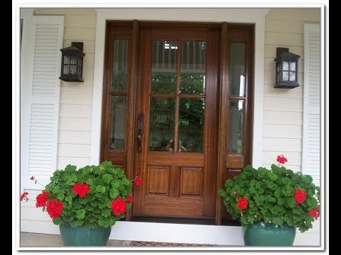 Exterior Wood Doors with Glass Panels