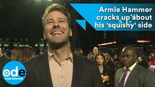 Armie Hammer cracks up about his