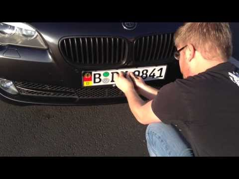 How to Mount Your Custom European License Plate Using 3M Dual Lock