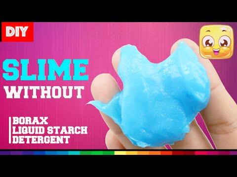 DIY Slime without Borax or Liquid Starch or Detergent
