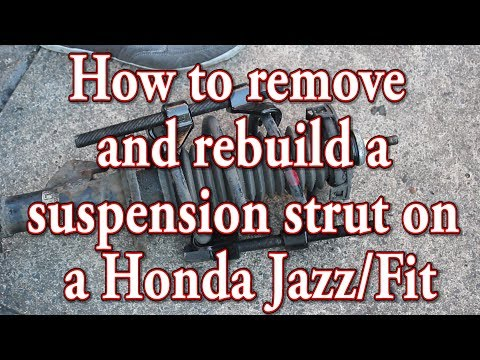 How to remove and rebuild a Honda Jazz/Fit suspension strut/spring/top mount