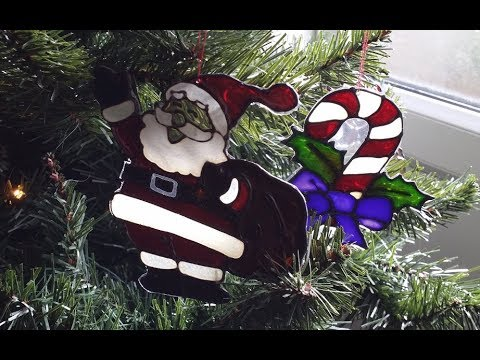 Glass painting Christmas Decorations Project