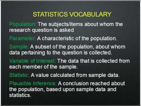 Initial vocabulary
