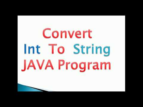 how to convert int to string in java example- [2 ways]