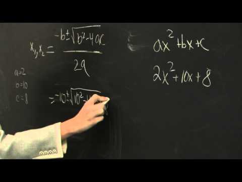 Steps to Solve Quadradic Equations
