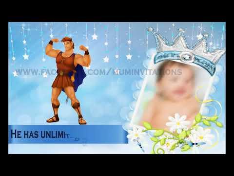 Royal Prince WhatsApp Birthday Party Invitation For Baby Boy