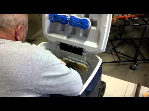 Go kart tire washer