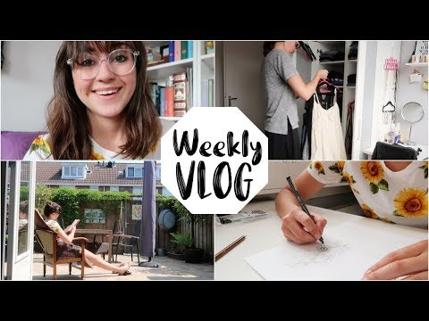 CLOSET DECLUTTER + DRAWING TATTOOS | Weekly Vlog #4
