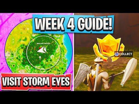 Fortnite WEEK 4 CHALLENGES GUIDE! - ALL WEEK 4 TIPS FAST! - Fortnite Battle Royale Week 4 Challenge