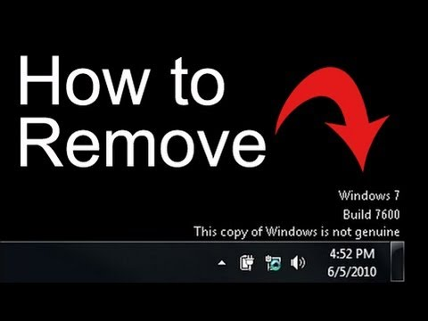 How to Remove (This copy of windows is not Genuine)in win7..with Remove WAT......