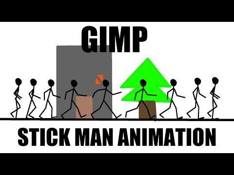 GIMP Tutorial - Stickman Animation with Windows Movie Maker | Photoshop Alternative | #49
