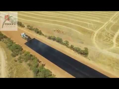 Road Bituminised  - Incredible Construction Work - Moora Shire Road Works