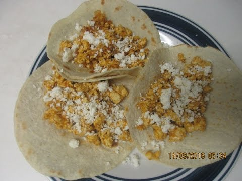 Delicious Eggs and Salsa Tacos !!!!!  :)