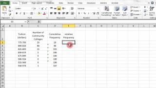 Excel Cumulative Frequency And Relative Frequency