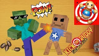 Download Monster School : KICK THE BUDDY GAME CHALLENGE - Minecraft Animation Video