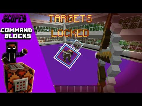 MCPE Tutorials: How to make a Target Lock Bow | Command Blocks