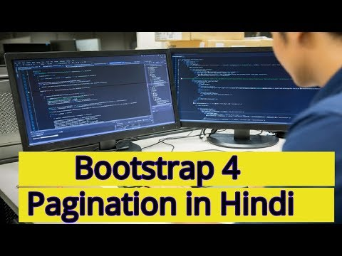 Learn Bootstrap 4 Tutorial in Hindi | Bootstrap 4 Pagination in Hindi