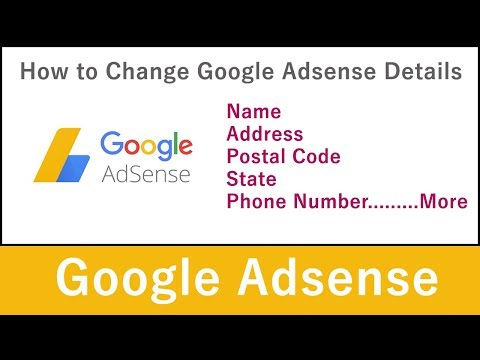 How to Change Adsense Name, Address, PIN, Phone Number in 2018 (Hindi)