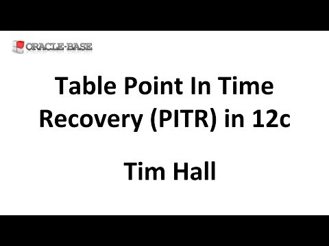 Table Point In Time Recovery (PITR) in Oracle Database 12c