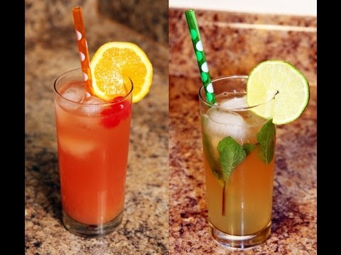 Mocktails: Nojito and Shirley Temple Recipe - CookingWithAlia - Episode 163