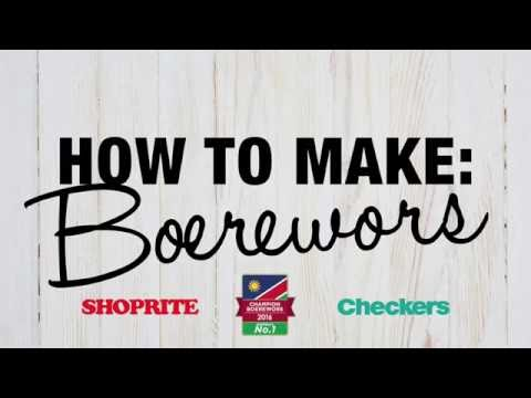How to make Boerewors. Step 1