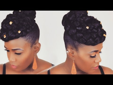 10 MINUTE FAUX HAWK UPDO ON SHORT  NATURAL HAIR