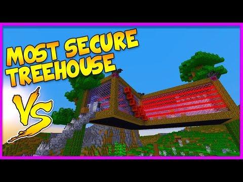 MOST SECURE TREEHOUSE BASE VS MOST SECURE TREEHOUSE BASE! (Vs LittleLizard)