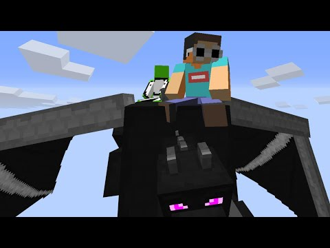 Minecraft, But The Ender Dragon Is Our Pet...