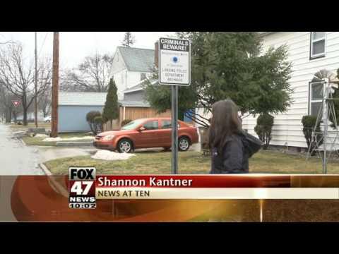 Car Windows Shot In Northwest Lansing Neighborhood