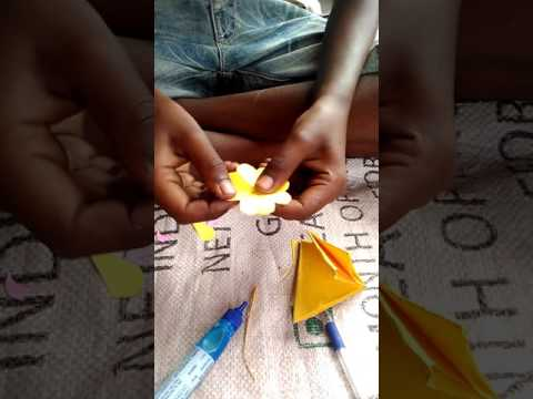 How to make a rose with chart paper.