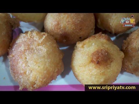 Rice Flour Recipes in Telugu - How to Cook Tasty Pakundalu Sweet Preparation :: by SripriyaTV