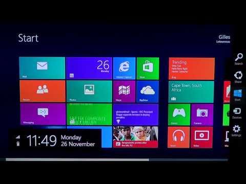 Windows 8 - Access the PC Settings menu