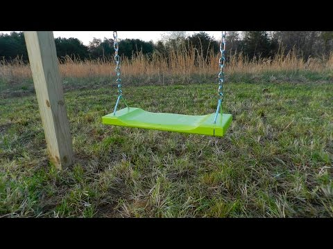 Building a simple wooden swing set.