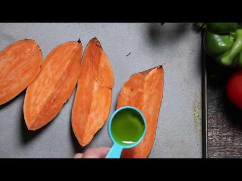 How to make restaurant quality sweet potato wedges -Vegan dish