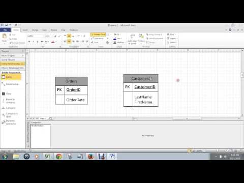 How to Model a Many to One Relationship in MS Visio 2010