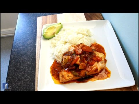 Brown Stew Salmon With Rice   Recipes By Chef Ricardo