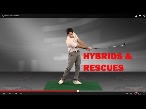 Golf Lesson: How to Hit Hybrid & Rescue Clubs More Solid