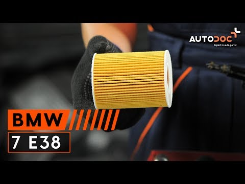 How to replace engine oil and oil filter BMW 7 E38 TUTORIAL | AUTODOC