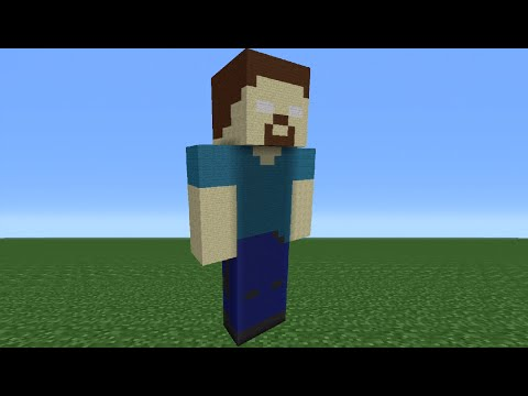 Minecraft Tutorial: How To Make A Herobrine Statue